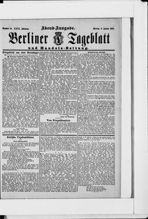 Berliner Tageblatt und Handels-Zeitung vom 08.01.1900