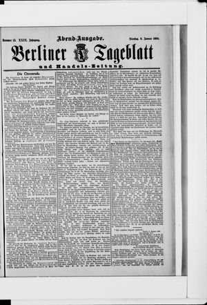 Berliner Tageblatt und Handels-Zeitung vom 09.01.1900