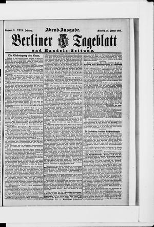 Berliner Tageblatt und Handels-Zeitung vom 10.01.1900