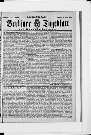 Berliner Tageblatt und Handels-Zeitung vom 11.01.1900