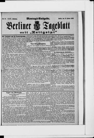 Berliner Tageblatt und Handels-Zeitung vom 15.01.1900
