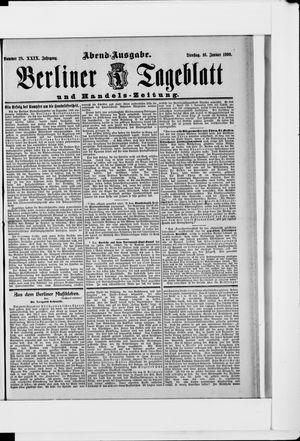 Berliner Tageblatt und Handels-Zeitung vom 16.01.1900