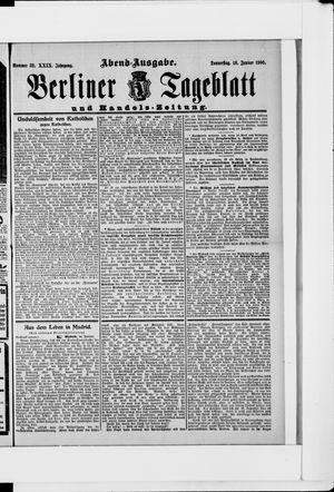 Berliner Tageblatt und Handels-Zeitung vom 18.01.1900