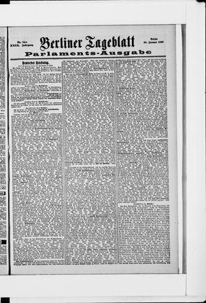Berliner Tageblatt und Handels-Zeitung vom 20.01.1900