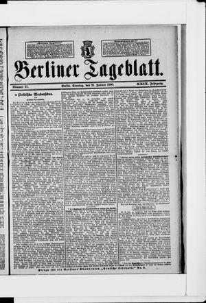 Berliner Tageblatt und Handels-Zeitung vom 21.01.1900