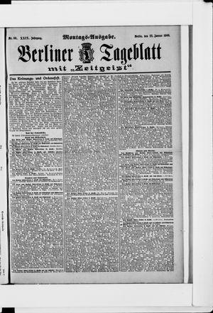 Berliner Tageblatt und Handels-Zeitung vom 22.01.1900
