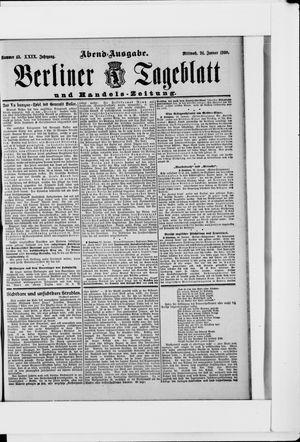 Berliner Tageblatt und Handels-Zeitung vom 24.01.1900