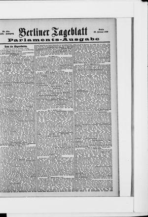 Berliner Tageblatt und Handels-Zeitung vom 26.01.1900