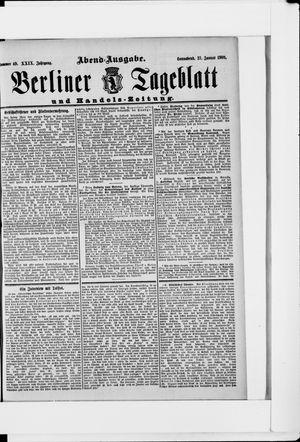 Berliner Tageblatt und Handels-Zeitung vom 27.01.1900