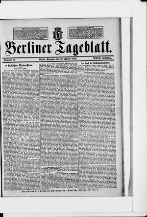 Berliner Tageblatt und Handels-Zeitung vom 28.01.1900