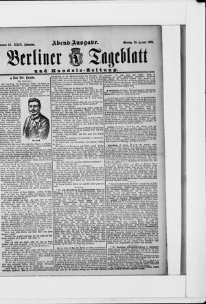 Berliner Tageblatt und Handels-Zeitung vom 29.01.1900