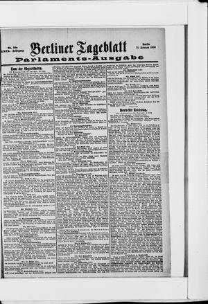 Berliner Tageblatt und Handels-Zeitung vom 31.01.1900