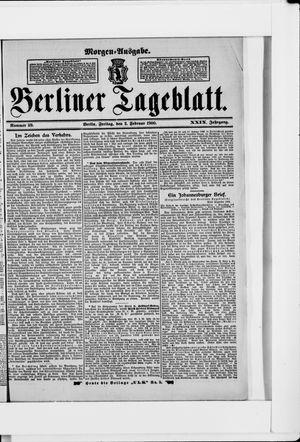 Berliner Tageblatt und Handels-Zeitung vom 02.02.1900