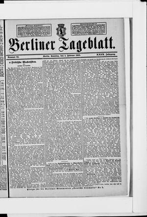 Berliner Tageblatt und Handels-Zeitung vom 04.02.1900