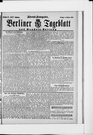 Berliner Tageblatt und Handels-Zeitung vom 06.02.1900