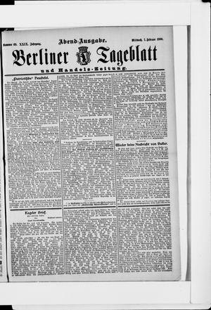 Berliner Tageblatt und Handels-Zeitung on Feb 7, 1900