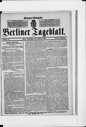 Berliner Tageblatt und Handels-Zeitung vom 08.02.1900