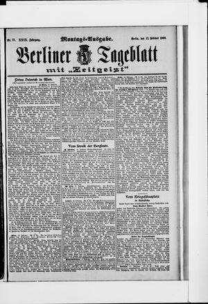 Berliner Tageblatt und Handels-Zeitung vom 12.02.1900