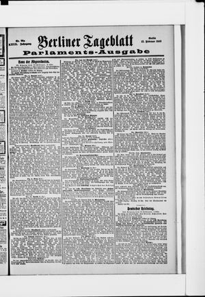 Berliner Tageblatt und Handels-Zeitung vom 13.02.1900