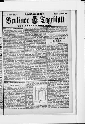 Berliner Tageblatt und Handels-Zeitung vom 14.02.1900