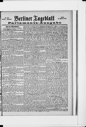 Berliner Tageblatt und Handels-Zeitung vom 16.02.1900