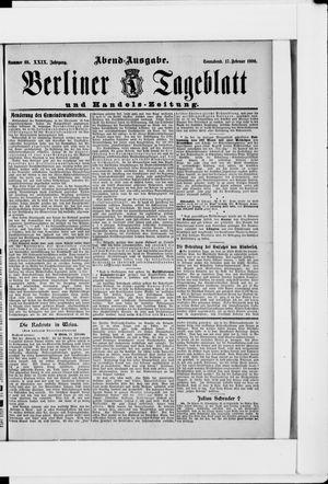 Berliner Tageblatt und Handels-Zeitung vom 17.02.1900
