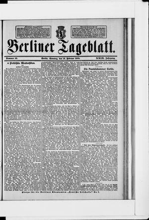 Berliner Tageblatt und Handels-Zeitung vom 18.02.1900