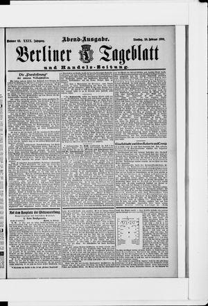 Berliner Tageblatt und Handels-Zeitung vom 20.02.1900