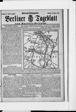 Berliner Tageblatt und Handels-Zeitung vom 21.02.1900