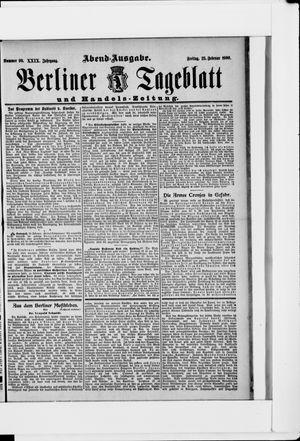 Berliner Tageblatt und Handels-Zeitung vom 23.02.1900