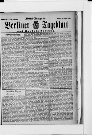 Berliner Tageblatt und Handels-Zeitung on Feb 26, 1900