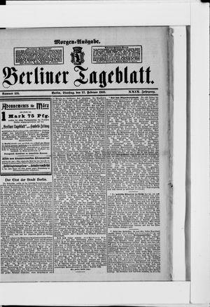 Berliner Tageblatt und Handels-Zeitung vom 27.02.1900