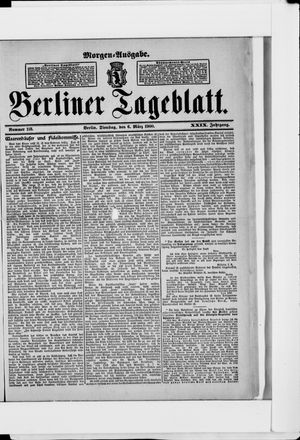 Berliner Tageblatt und Handels-Zeitung vom 06.03.1900