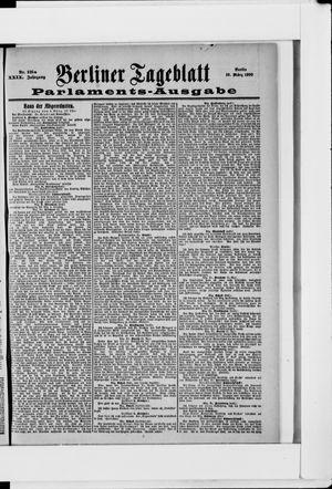Berliner Tageblatt und Handels-Zeitung vom 10.03.1900