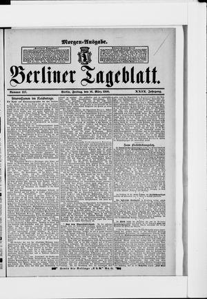 Berliner Tageblatt und Handels-Zeitung vom 16.03.1900