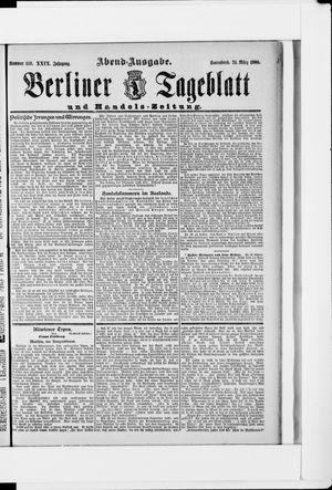 Berliner Tageblatt und Handels-Zeitung vom 24.03.1900