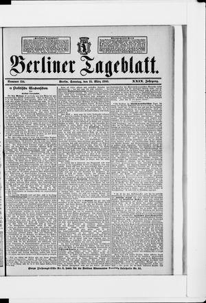Berliner Tageblatt und Handels-Zeitung vom 25.03.1900