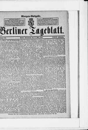 Berliner Tageblatt und Handels-Zeitung vom 31.03.1900