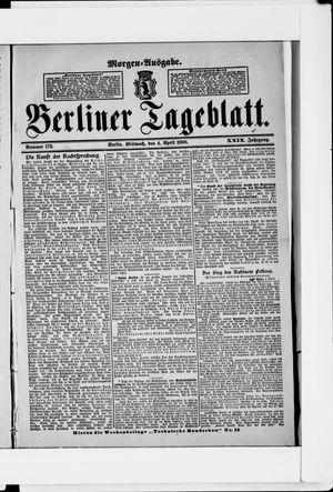 Berliner Tageblatt und Handels-Zeitung on Apr 4, 1900