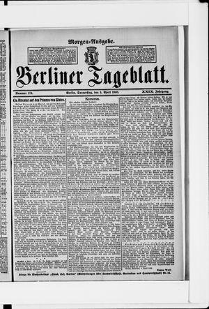 Berliner Tageblatt und Handels-Zeitung vom 05.04.1900