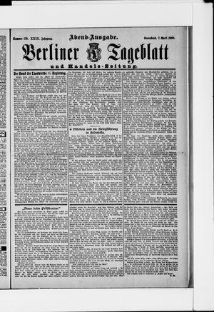 Berliner Tageblatt und Handels-Zeitung vom 07.04.1900