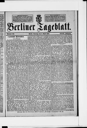 Berliner Tageblatt und Handels-Zeitung vom 08.04.1900