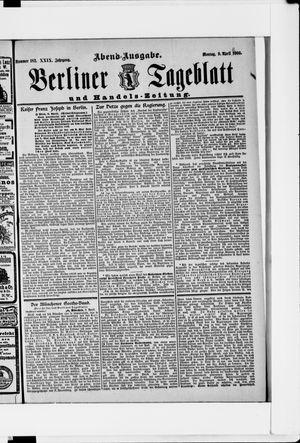 Berliner Tageblatt und Handels-Zeitung vom 09.04.1900
