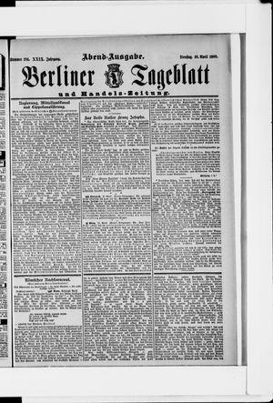 Berliner Tageblatt und Handels-Zeitung vom 10.04.1900
