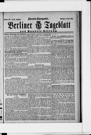 Berliner Tageblatt und Handels-Zeitung vom 11.04.1900
