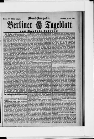Berliner Tageblatt und Handels-Zeitung vom 12.04.1900