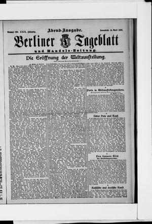 Berliner Tageblatt und Handels-Zeitung vom 14.04.1900