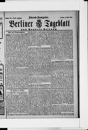 Berliner Tageblatt und Handels-Zeitung vom 17.04.1900