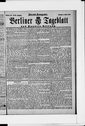 Berliner Tageblatt und Handels-Zeitung vom 18.04.1900