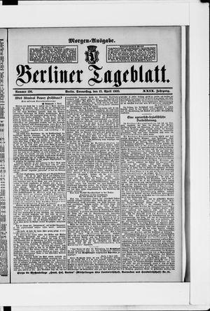 Berliner Tageblatt und Handels-Zeitung vom 19.04.1900